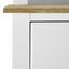 Kredenc Anouk - biela, Moderný, drevo (117,5/183/45,5cm) - Modern Living