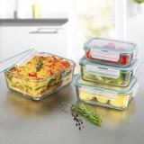 Gourmetmaxx Glas-Frischhaltedosen, 8tlg. - Smaragdgrün/Transparent, Basics, Glas/Kunststoff - TV - Unser Original