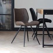 Stuhl-Set Barron 4-Er Set Taupe - Taupe/Schwarz, LIFESTYLE, Kunststoff/Metall (47/82/55cm) - MID.YOU
