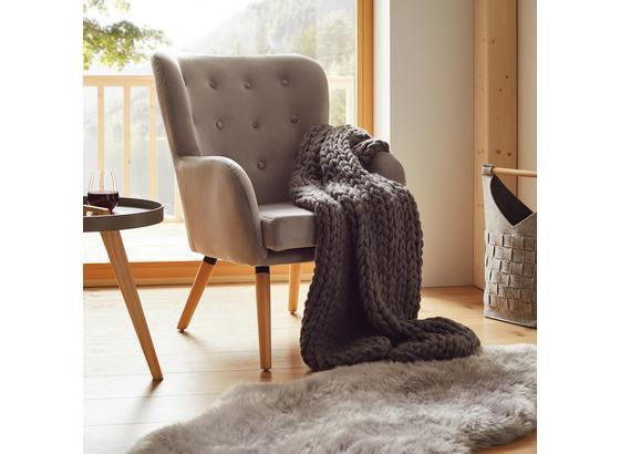 Kreslo Cooper - svetlosivá, Moderný, drevo/textil (69/95/76cm) - Mömax modern living