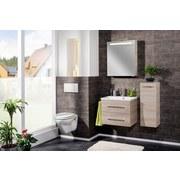 Waschtischkombi mit Soft-Close B. Clever B: 60 cm Esche Dekor - Eschefarben/Weiß, MODERN, Holzwerkstoff/Kunststoff (60/51/46cm) - Fackelmann