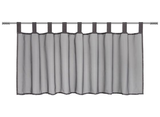 Záclona Krátká Hanna - antracitová, textil (145/50cm) - Mömax modern living