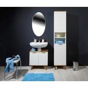 Hochschrank Turin 5 - Eichefarben/Weiß, MODERN, Holzwerkstoff (40/195/30cm)