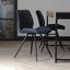 Stuhl-Set Barron 4-Er Set Dunkelblau - Schwarz/Dunkelblau, LIFESTYLE, Kunststoff/Metall (47/82/55cm) - Livetastic