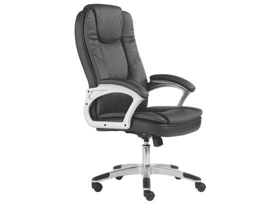 Kancelářské Křeslo Romero - barvy stříbra/černá, kov/kompozitní dřevo (62/116-125/71cm) - Mömax modern living