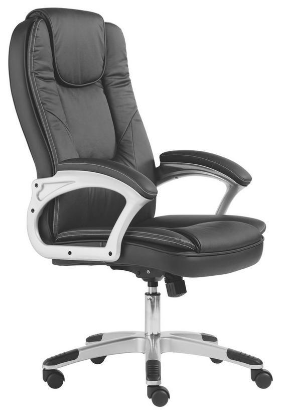 Kancelářské Křeslo Romero - barvy stříbra/černá, kov/textil (62/116-125/71cm) - Mömax modern living