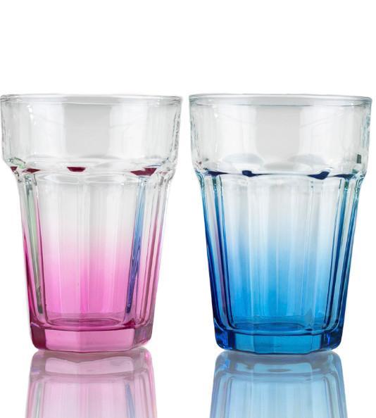 Trinkglas Maren - Pink/Rot, Glas (9,2/12,8cm) - Luca Bessoni