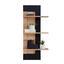 Winkelboard Nyon - Eichefarben/Schwarz, MODERN, Holzwerkstoff (49,1/110/21cm)