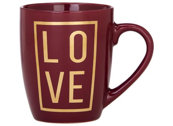 Hrnek Na Kávu Love - barvy zlata/bobulová, Moderní, keramika (8,5/10,5cm) - Mömax modern living