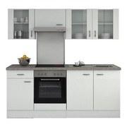 Küchenleerblock Wito 210cm Weiß - Weiß, KONVENTIONELL, Holzwerkstoff (210/60cm)