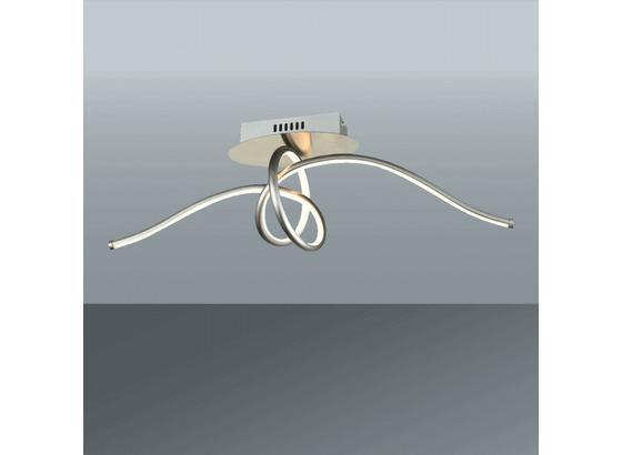 Led Stropná Lampa Fran - farby niklu, Romantický / Vidiecky, umelá hmota/kov (70/23cm) - Premium Living