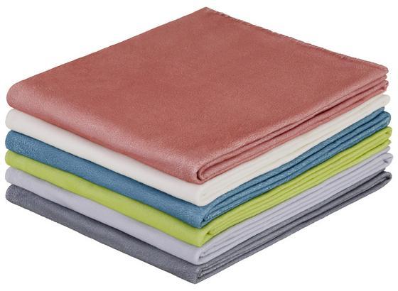 Fleecedecke Tina *ph* - Blau/Dunkelgrau, KONVENTIONELL, Textil (130/160cm) - Ombra