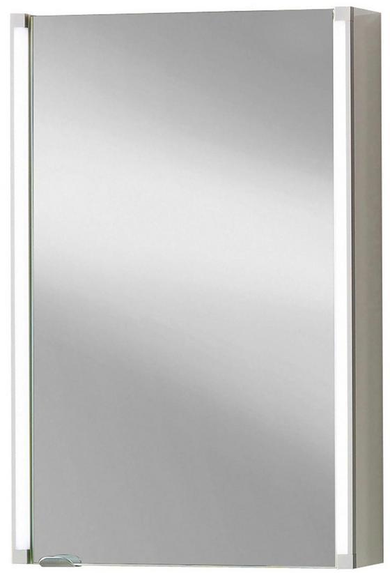 Spiegelschrank LED-Line 42,5 cm Weiß - Weiß, MODERN, Glas/Holzwerkstoff (42,5/67/16,5cm)
