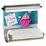 Küchenrollenhalter-memoboard Cupcake Magnetisch - Multicolor, MODERN, Glas/Metall (35/29/15cm)