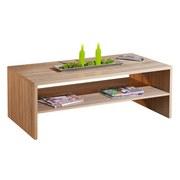Couchtisch Holz mit Ablagefach Absoluto, Eiche Dekor - Sonoma Eiche, Basics, Holzwerkstoff (115/42/60cm) - MID.YOU