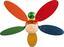Deckenventilator Boni - Multicolor, MODERN, Glas/Holz (106,6/37cm)