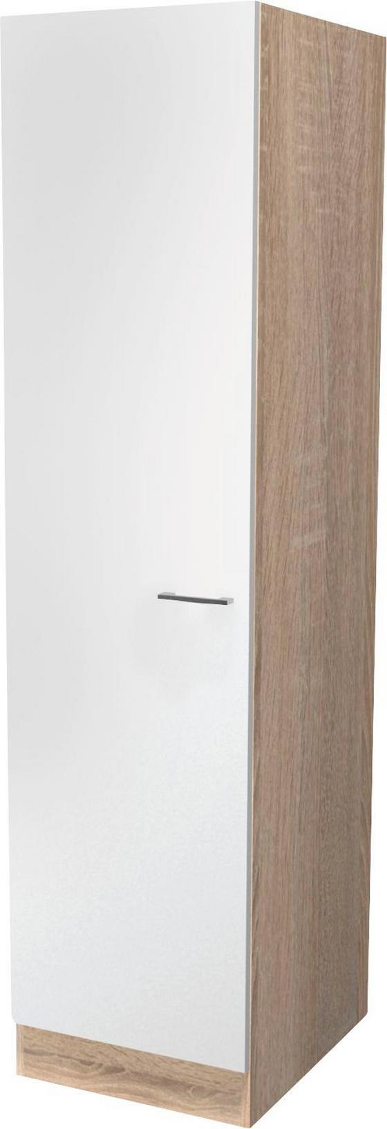 KAMRASZEKRÉNY SAMOA - tölgy színű/fehér, konvencionális, faanyagok (50/200/57cm)