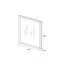 Zrkadlo Rico - biela, Moderný, drevo/sklo (48/68/1,50cm) - Modern Living