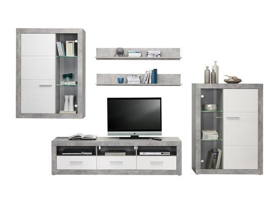 Odporúčaná Kombinácia Malta - Beton 6 - sivá/biela, Moderný, kompozitné drevo (329/197/42cm)