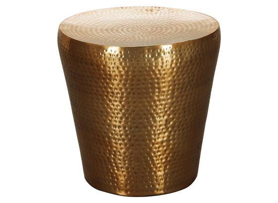 Beistelltisch Orient-Look Vikram, Goldfarben - Goldfarben, LIFESTYLE, Metall (40/40/41cm) - Livetastic