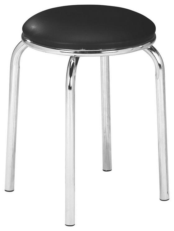 Stolička Pub - čierna, Konvenčný, umelá hmota/kov (46/45cm)