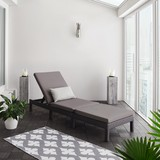 Lehátko Sarah - černá/tmavě šedá, Moderní, kov/textilie (60/28/198cm) - Modern Living