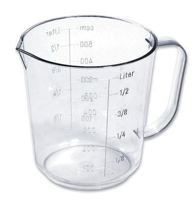 Messbecher 0,50 Liter - Klar, KONVENTIONELL, Kunststoff (10.5/11.2cm)