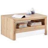 Couchtisch mit 2 Schubladen Kashmir New Wotan Eiche Dekor - Eichefarben/Weiß, MODERN, Holzwerkstoff (100/50/69cm) - James Wood