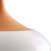 Závesná Lampa Tess - prírodné farby/biela, Moderný, kov (30/120cm) - Modern Living