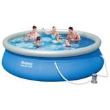 Schwimmbecken Fast Set Pool 57321 - Blau/Weiß, Kunststoff (396/84cm) - Bestway