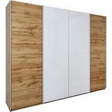 Sschwebetürenschrank Beluga B:270cm Weiß/ Wildeiche Dekor - Eichefarben/Weiß, MODERN, Holzwerkstoff (270/226/61cm)