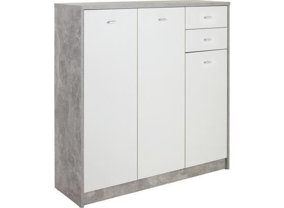 Komoda 4-you New Yuk09 - šedá/bílá, Moderní, kompozitní dřevo (109,1/111,4/34,6cm)