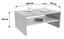 Dohányzóasztal Cala Luna - Tölgyfa/Fehér, modern, Faalapú anyag (100/40/59cm)