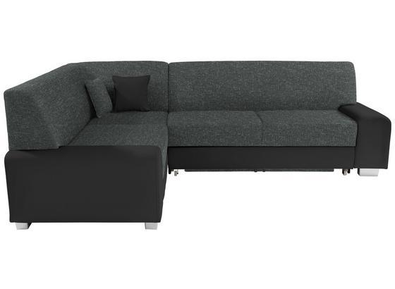 Sedací Souprava Miami - šedá/černá, Basics, dřevo/textil (210/260cm)