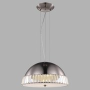 LED-hängeleuchte Palma - Nickelfarben, MODERN, Glas/Metall (43/130cm)