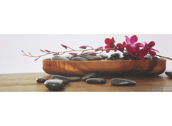 Obraz Orchidea - vícebarevná, Lifestyle, dřevo/textil (30/90/2,5cm) - Mömax modern living