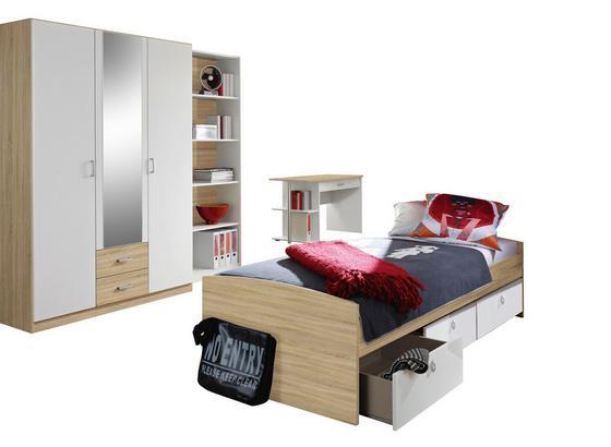 Jugendzimmer Point Eiche/Weiß - Weiß/Sonoma Eiche, MODERN, Holzwerkstoff - MID.YOU