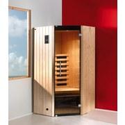 Infrarotkabine Tanilla Eck - Fichtefarben, MODERN, Glas/Holz (137/190/99cm)