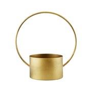 Pflanzentopf Elsa - Goldfarben, LIFESTYLE, Metall (33.5/18.5/35.5cm) - Luca Bessoni