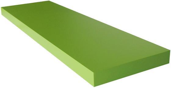 Falipolc Giga - zöld, modern, faanyagok (80/3,8/23,50cm)