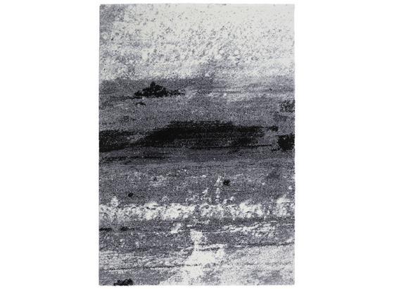 Tkaný Koberec Topas - čierna/svetlosivá, Moderný (133/190cm)