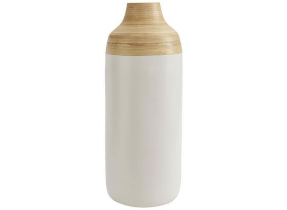 Dekoračná Váza Alva - prírodné farby/biela, drevo (19/50cm) - Mömax modern living