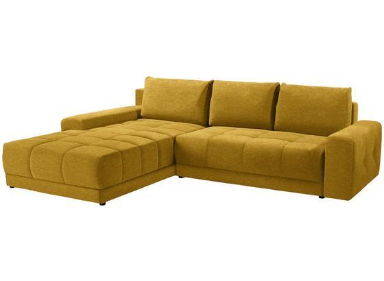 Sedacia Súprava Adria - hnedá/žltá, Moderný, textil (213/308cm) - Luca Bessoni