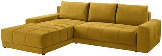 Wohnlandschaft L-form Adria 213x308cm - Gelb/Braun, MODERN, Textil (213/308cm) - Luca Bessoni