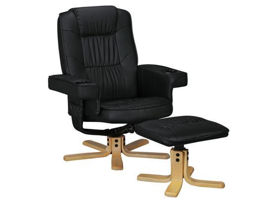 Relaxsesselset Comfort Duo B: ca. 80 cm - Birkefarben/Schwarz, KONVENTIONELL, Textil (80/92/80cm) - Livetastic
