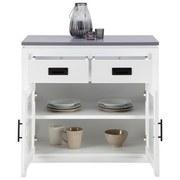 Komoda Liana - bílá/šedá, Moderní, dřevo/sklo (80/80/40cm) - MÖMAX modern living