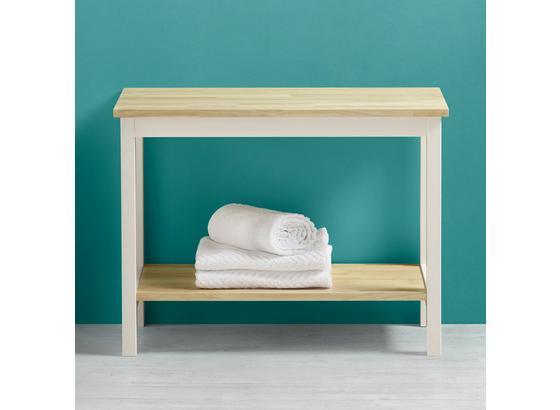 7ce8f5da2 Regál Do Kúpeľne Jule - biela/farby buku, Moderný, drevo (60/