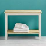 Regál Do Kúpeľne Jule - farby dubu/biela, Moderný, drevo (60/45/33cm) - MODERN LIVING