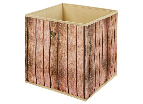 Aufbewahrungsbox Wuddi 1 B: 31,5 cm Brauntöne - Braun, Basics, Textil (31,5/31/31,5cm)
