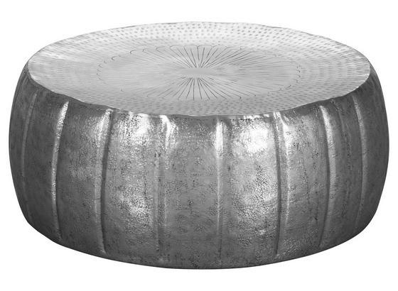 Runder Couchtisch Metall mit Ablage Jamal, Silberfarben - Silberfarben, LIFESTYLE, Metall (72/72/31cm) - Livetastic